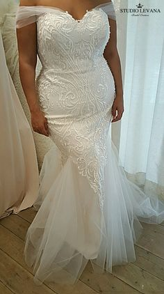 The jaw-dropping mermaid curvy bridal gown you would fall in love with | All My Heart Bridal | Plus Size Wedding Dress
