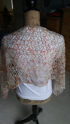 Peachy Shells Shawl/Wrap Rectangle by AriadnesCrochetDream on Etsy