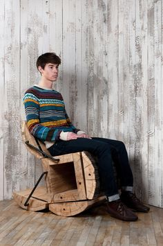 Experimental Furniture Minimalist Recycled Oak Chair by Architecture Uncomfortable Workshop