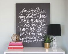Amazing Grace Canvas #lindsaylettersshop