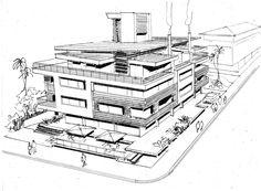 Croqui Edifício Multifamiliar - MOS Arquitetos