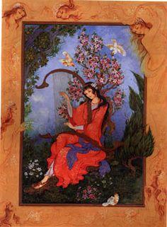 Golo Morgh ( Flower & Bird ) by  Roya Mirbod