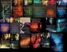 Dark Hunter Series by Sherrilyn Kenyon     Not only have I read everything she's ever written, I own every one of these books, have 2 that are autographed, and have a photo with her. You could say she's one of my favorite authors :)