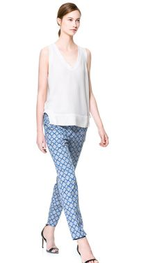PRINTED TROUSERS - Trousers - Woman | ZARA United States