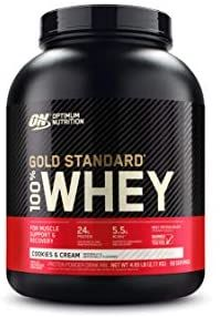 Amazon Com Optimum Nutrition Gold Standard 100 Whey Protein Powder Cookies And Cream 4 In 2020 Best Whey Protein Optimum Nutrition Gold Standard Optimum Nutrition