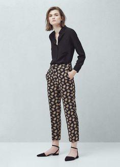 Floral print trousers | MANGO