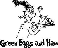 Green Eggs and Ham Dr. Seuss SVG vector illustration clipart files for cricut die cutter vinyl digit Dr Seuss Shirts, Read Across America Day, Cricut Svg Files Free, Image Font, Green Eggs And Ham, Craft Cutter, School Themes, Cricut Design, Clip Art