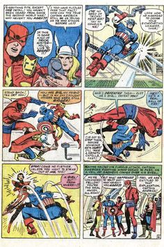 All month long we will feature brand-new Cool Avengers and X-Men Comic Book Moments in celebration of their fiftieth anniversaries this month. Here is an archive of all the past cool comic moments that I've featured so far over the years. Today we look at Captain America making his Silver Age debut in Avengers #4 …