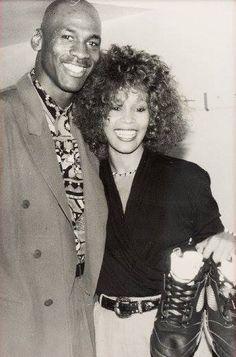 Whitney Houston and Michael Jordan Black Love, Black Is Beautiful, Beautiful People, Black Art, Beverly Hills, Michael Jordan, Michael Jackson, Black Celebrities, Celebs