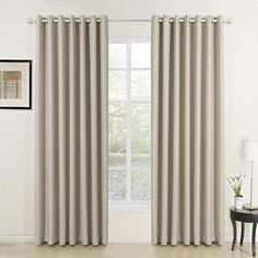 TWOPAGES Classic Embossed Ivory Solid Room Darkening Grommet Top Curtains  1 Panel  84  W X 102  L Multi Size Available Custom 638496102 Inch Length >>> More info could be found at the image url.Note:It is affiliate link to Amazon.