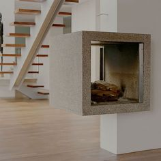 Kamineinfassung - Concreto Concrete, Indoor, Design, Home Decor, Material Properties, Shelf, Products, Interior, Homemade Home Decor