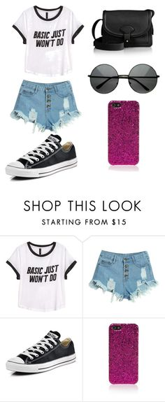 """Sin título #104"" by karenrodriguez-iv on Polyvore featuring moda, H&M, WithChic, Converse, Yves Saint Laurent, Maiyet, women's clothing, women, female y woman"