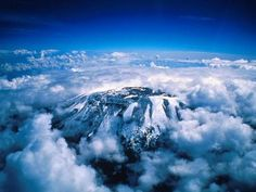 Mount Kilimanjaro, Tanzania, Africa.  19,340 feet - Africa's highest point, World's highest free-standing mountain