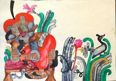 illustration c. 1970-74, by great Hungarian illustrator, Emma Heinzelmann (born: 1930, Nyírbátor-)