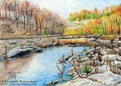 landscape drawing colored pencil - Google Search