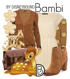 """""""Bambi"""" by leslieakay ❤ liked on Polyvore featuring Tory Burch, Mela Loves London, The Cambridge Satchel Company, Marc by Marc Jacobs, women's clothing, women's fashion, women, female, woman and misses"""