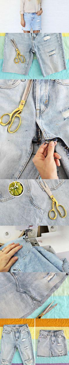 Como Fazer Saia com Calça Jeans – Passo a Passo