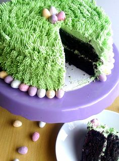 My sugar coated life.: Dairy Free Chocolate Easter Cake with dairy free vanilla frosting and mini eggs Dairy Free Vanilla Frosting, Chocolate Easter Cake, Creme Egg, Mini Eggs, Dairy Free Chocolate, Cake Business, Easter Recipes, Avocado Toast, Baking Recipes