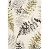 Found it at Wayfair - Porcello Ivory / Light Grey Floral and Plant Rug