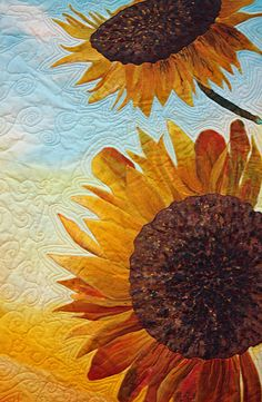 Two Sunflowers got a itsy bitsy little mention on Quilting Arts