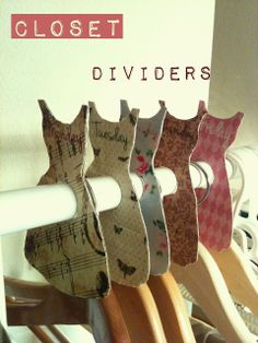 Separadores de ropa DIY / Closet Dividers DIY