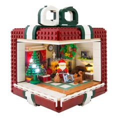 Getting dizzy about a gift in a gift The Brothers Brick - Kids - Lego - Lego Christmas Village, Lego Winter Village, 3d Christmas, Lego Disney, Lego Duplo, Lego Minecraft, Minecraft Skins, Minecraft Buildings, Lego Design