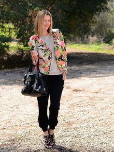 Spring Floral Fashion 2014. A great floral Moto Jacket & Jogger Pants. ::M::