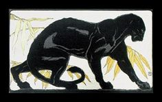 A while ago I posted artwork from one of Europe's most important animal artists, Paul Jouve. He was an expert in depicting all animals,. Black Animals, Cute Animals, Rudyard Kipling Jungle Book, Black Panther Tattoo, Cat Sketch, Cat Decor, Sacred Art, Cat Drawing, Wildlife Art