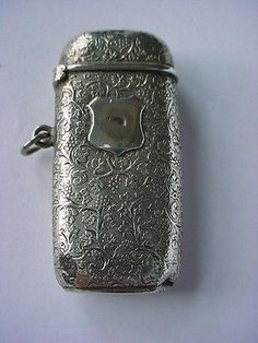 Beautiful Jugendstil Art Nouveau FRENCH Sterling Silver Lady's Match Safe Vesta