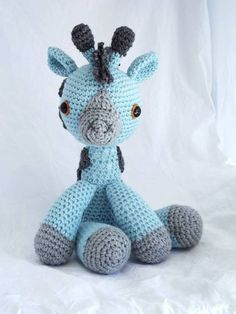 Giwaffle the amigurumi giraffe by Crayons. All creatures custom made and shipped to anywhere.