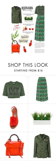 """""""Untitled #2690"""" by amimcqueen ❤ liked on Polyvore featuring Ivy Park, Gucci, Tory Burch, Elena Ghisellini, Dsquared2 and Bebe"""