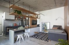 Apartamento com partições,© Gui Morelli