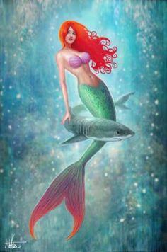 Older mermaid painting I really re-worked! Little Mermaid-ish Real Mermaids, Fantasy Mermaids, Mermaids And Mermen, New Little Mermaid, Little Mermaid Tattoos, Tattoo Mermaid, Mermaid Artwork, Mermaid Drawings, Mermaid Fairy