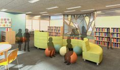 Image result for how can I lay out an elementary school library plan with furniture
