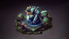 Isometric Ancient Golem. Drawing Process from Twitch Stream Channel | by...