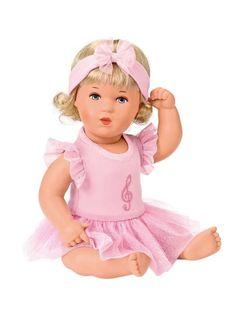 Kathe Kruse Bath Baby Stella Ballerina Outfit, Stella Rosa, Bath Doll, Baby Stella Doll, Doll With Hair, Crochet Hats, Dolls, Disney Princess, Disney Characters