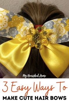 How to make hair bows in three easy styles – then change them, stack them, and add embellishments for a look that is perfect for the girls in your life! These three bows make the perfect addition to an outfit or themed accessory for holidays. #hairbows #diyhairbows #hairbowsdiyeasy #hairbowsdiy #hairbowseasystepbystep #hairbowshairstyle #hairbowsdiyribbon Making Hair Bows, Diy Hair Bows, Wand Hairstyles, Cute Hairstyles, Hair Accessories For Women, Wedding Hair Accessories, How To Make Hair, How To Make Bows, How To Make Pinwheels