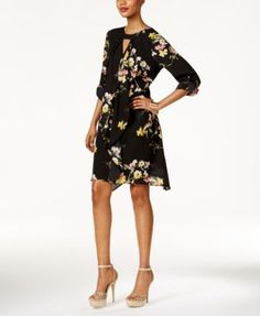 Thalia Sodi Floral-Print Draped Dress, Only at Macy's $89.50 Don't forget to flutter. Thalia Sodi's asymmetrical dress does style right with a flattering ruffled drape.