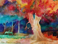 Fantasy tree Autumn fine art print by by EllenBrennemanStudio, $20.00