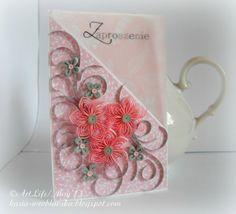 Beautiful quilled card - by: Katarzyna Wroblewska -  www.kasia-wroblewska.blogspot.com/
