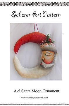 Crescent Moon Santa Claus Ornament