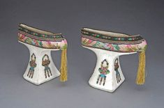 """Flower pot shoes'"", China, Guangxu reign period (1875-1908)"