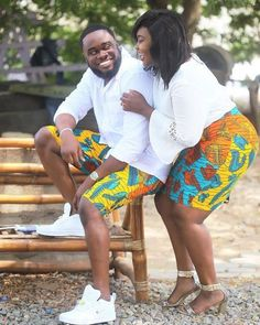 The most classic collection of beautiful traditional and ankara styles and designs for couples. These ankara styles collections are meant for beautiful African ankara couples Couples African Outfits, Couple Outfits, African Attire, African Wear, African Dress, African Style, African Beauty, Ankara Styles For Kids, Ankara Styles For Men