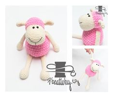 Háčkovaná ovečka Crochet Toys, Crochet Baby, Knit Crochet, Easy Knitting, Handmade Toys, Pet Toys, Crochet Projects, Diy And Crafts, Hello Kitty