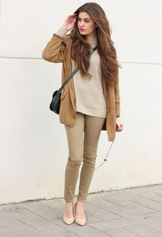 color beige and camel outfits - Buscar con Google