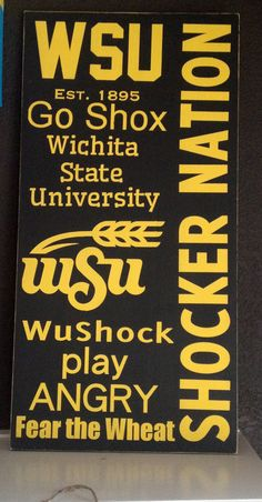 Wichita State University Typography Subway by KatiesSunshineShop