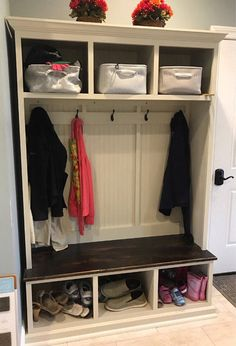 Entryway Bench With Storage Furntiure Organization Shoe Coat Rack
