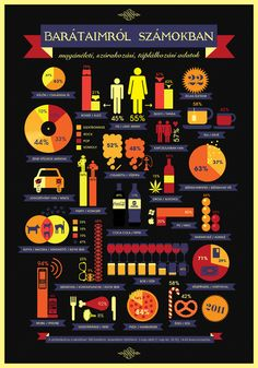 Friends in Numbers Infographic Design