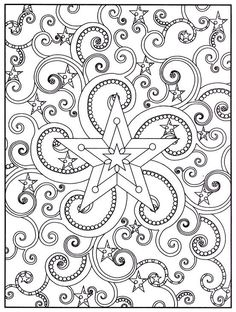 Think how awesome this would be embroidered! Coloring page mandala ...