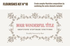 Check out Flourishes Vector Kit N°10 by webalys on Creative Market